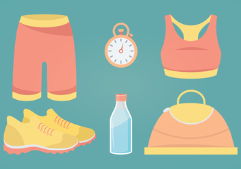 Fitness Accessories Vector Illustration - бесплатный vector #336051