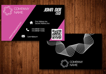 Pink Creative Business Card - vector gratuit #336181