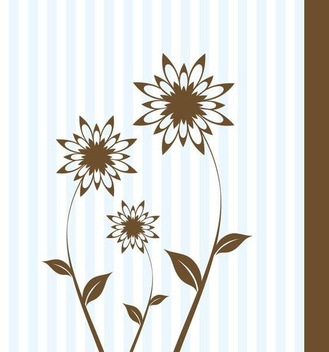 Blue Stripes Floral Card - vector gratuit #336341