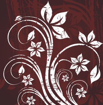 White Swirling Plant Grungy Background - Kostenloses vector #336431