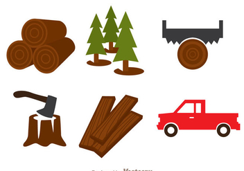 Lumberjack Colors Icons - vector #336521 gratis
