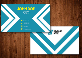 White Stripe Creative Business Card - vector gratuit #336591