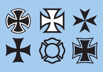 Maltese Cross Vector - Free vector #336651