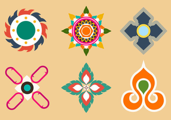 Thai Patterns in Vector - vector gratuit #336661