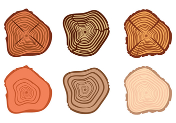 Tree Ring Vectors - vector gratuit #336681