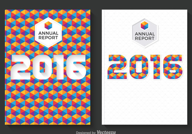 Free Annual Report Design Vector - Free vector #336731