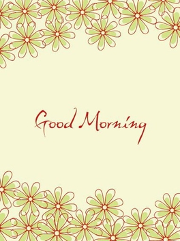 Funky Floral Good Morning Card - Free vector #336901