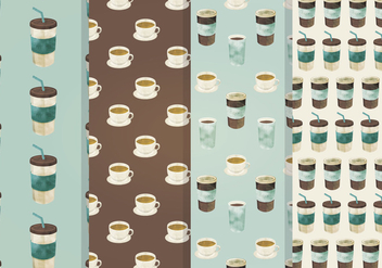 Coffee Seamless Vector Pattern - vector gratuit #336941
