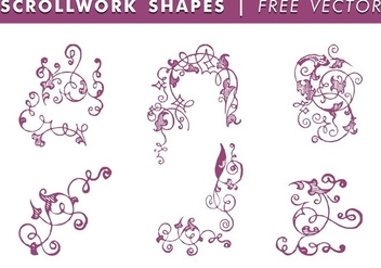 Scrollwork Shapes Free Vector - Kostenloses vector #336971