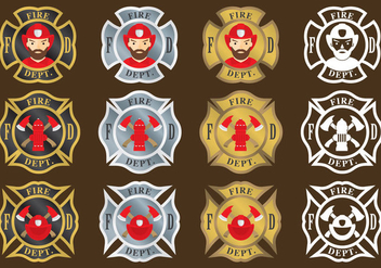 Firefighter Emblems - Free vector #337071