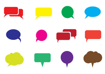 Free Speech Bubble Vector - Kostenloses vector #337091