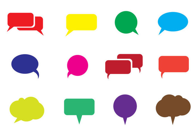 Free Speech Bubble Vector - Free vector #337091