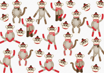 Free Sock Monkeys Vector - Free vector #337101