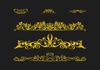 FREE SCROLLWORK VECTOR 2 - Free vector #337111
