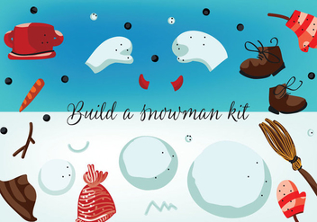 Free Build a Snowman Kit Vector - Free vector #337271