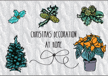 Free Christmas Decorations Vector - vector #337281 gratis