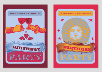 Free Birthday Party Poster Background - vector gratuit #337301