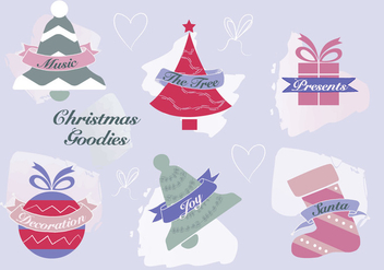 Free Christmas Elements Vector Background - vector gratuit #337321