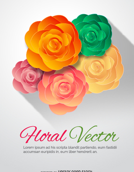Colorful flower ornament - Kostenloses vector #337341