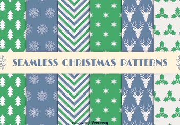 Christmas Seamless Pattern Set - Free vector #337401