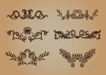 Scrollwork Vector - Free vector #337641