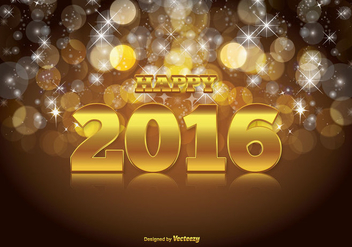Happy 2016 Illustration - Free vector #337671