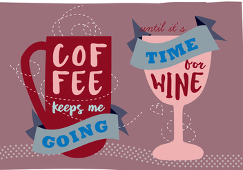 Free Coffee and Wine Illustration Background - vector #337751 gratis