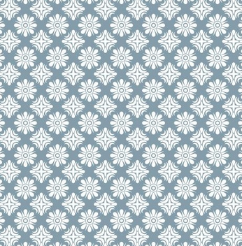 White Ornamented Seamless Pattern - vector #337771 gratis