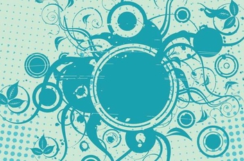 Swirls Circles Halftones Background - vector #337781 gratis