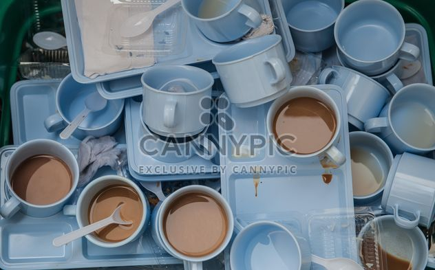 Dirty coffee cups - image gratuit #337901
