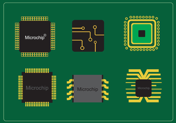 Various Microchips - Free vector #337991