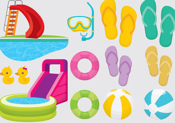 Aquatic Summer Items - vector gratuit #338061