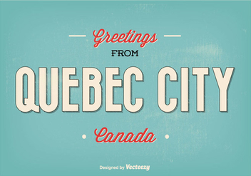 Retro Quebec City Greeting Illustration - Kostenloses vector #338111