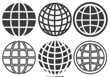 Globe Grid Set - vector gratuit #338161
