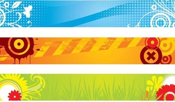 Abstract Colorful Banner Set - vector #338181 gratis