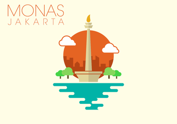 Monas Minimalist Illustration - vector gratuit #338401