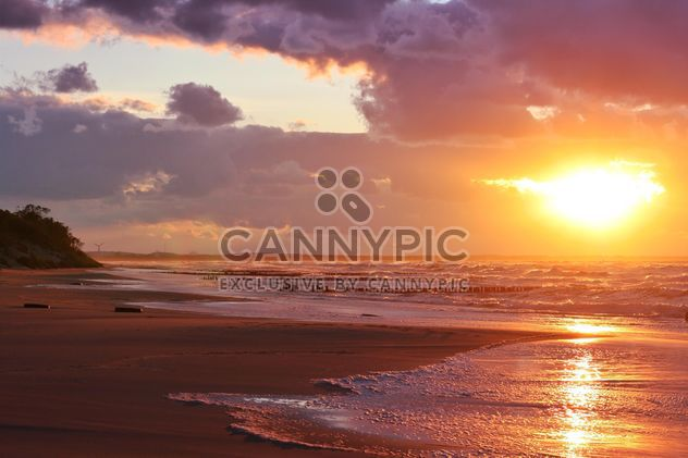 Landscape with seacoast at sunset - Free image #338511