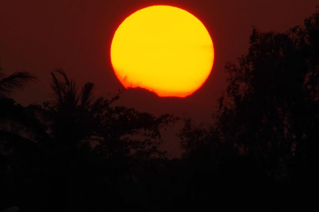 Big sun at sunset - Free image #338581