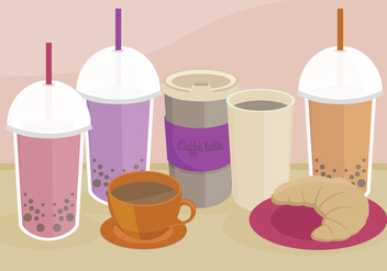 Bubble Tea Vector Illustration - Free vector #338741