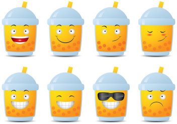 Bubble Tea Emoticon - Free vector #338751