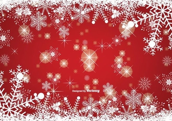 Snowy Christmas Background - vector gratuit #338811