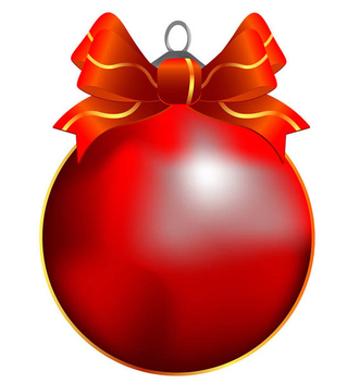 Christmas Ball Vector - Free vector #339061