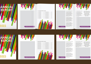 Colorful Annual Report - Kostenloses vector #339281