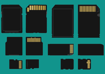 Memory Card Types Vector - бесплатный vector #339351