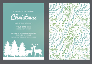 Vector Christmas Card - vector gratuit #339381