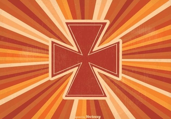 Retro Maltese Cross Illustration - Free vector #339431