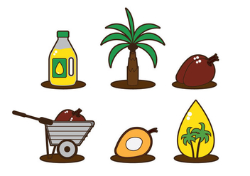 Palm Oil Vector - vector #339481 gratis
