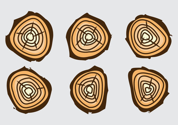 Free Tree Rings Vector Illustration #17 - Free vector #339511