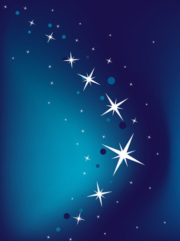 Blue vector background with stars - vector #339521 gratis