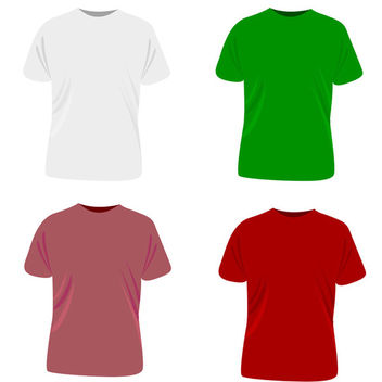 Vector t-shirt template - бесплатный vector #339561